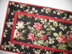 RosesTable Runner Spring or Summer in red by PicketFenceFabric, $38.00