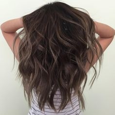 """Metallic brown balayage."""