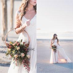 Utah Wedding Photographer, Utah Bridals, Hoop Bouquet