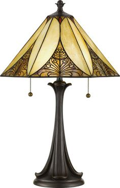 Quoizel TF706T 2 Light Angelique Tiffany Table Lamp Favorite ... Details coordinate with bedding.
