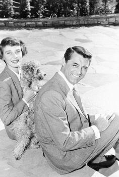 """""""""""Cary Grant and Betsy Drake at home, c 1950. """" """""""