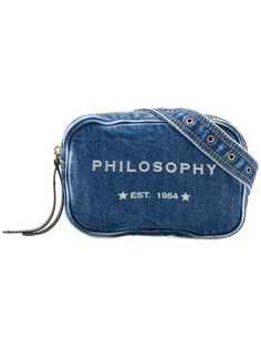 78de4566184f Philosophy Di Lorenzo Serafini logo print denim belt bag $294 - Buy SS19  Online - Fast