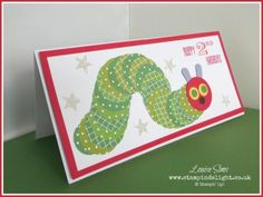 Meet the Hungry Caterpillar | Stampin' Delight by Louise Sims. Hungry Caterpillar punch art using Stampin' Up punches and Designer Series paper.