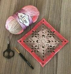 Transcendent Crochet a Solid Granny Square Ideas. Inconceivable Crochet a Solid Granny Square Ideas. Granny Square Crochet Pattern, Crochet Blocks, Crochet Squares, Crochet Motif, Crochet Designs, Crochet Stitches, Granny Squares, Cotton Crochet, Love Crochet