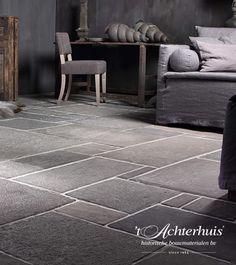 I like Castle Stones Stone Flooring, Kitchen Flooring, Castle Stones, Doors And Floors, Pine Design, Belgian Style, Slate Stone, Floor Finishes, Cozy Cottage