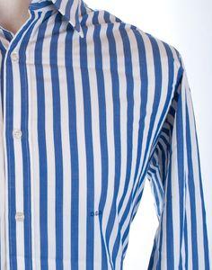 Charvet Paris Striped L/s French Cuffs Dress Shirt Mens M 16 Made France $398…