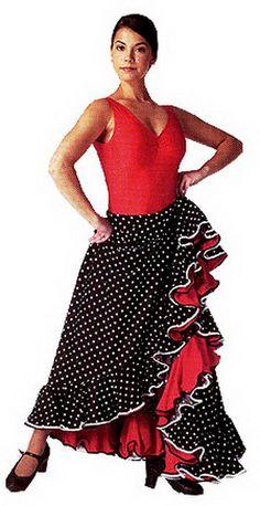 Faldas flamencas Flamenco Costume, Dance Costumes, Gypsy Skirt, Color Negra, Dance Wear, Vintage Fashion, Sewing, Crochet, Womens Fashion
