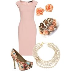Working for fashion; I love this outfit. I can tell it was thought out and the dress goes great with the other pinks.