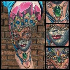 Carnival mask tattoo sketch by ranz pinterest the for Mardi gras mask tattoo