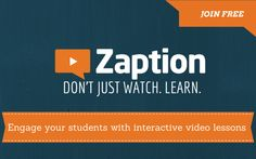 Zaption - This would be a great tool to use with flipped learning lectures.  It allows instructors to check in with students as they are watching the videos.