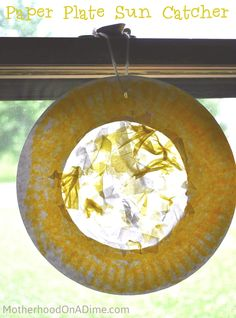 Sun Theme Activities: Paper Plate Sun Catchers (great for toddlers, preschoolers, and early elementary ages)