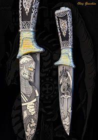 """Авторское оружие & JEWELRY: нож """" Рыцарь - Дракон"""""""