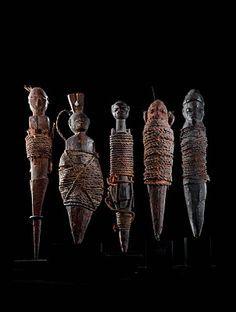 Hoodoo Magick Rootwork:  African Voodoo sculptures.