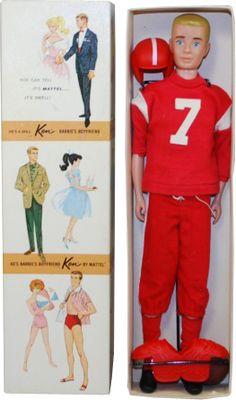 Vintage Ken doll in football gear