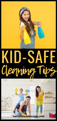 Twin Cities Kids Club Blogs: Kid-Safe Cleaning Tips - Many parents are always on the lookout for kid-safe cleaning products. They want cleaning supplies that will not harm their kids, while still getting the job done. Twin Cities Kids Club has a list of kid-safe cleaning products that you can incorporate into your cleaning routine. #kids #games #fungames #indoorgames #kids #kidsactivities #gameday #gameart #gamenight #kidsroomideas #kidscrafts #parents #parenting #parentingtips Safe Cleaning Products, Cleaning Hacks, Cleaning Supplies, Step Parenting, Parenting Hacks, Activities For Kids, Crafts For Kids, Indoor Games, Children Toys