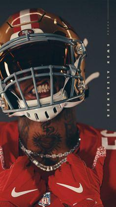 San Francisco Forty Niners Kwon Alexander Wallpaper #49ers #NinerNation Sf Football, American Football, Football Helmets, 49ers Pictures, Football Pictures, Forty Niners, 49ers Fans, Michael Jordan Basketball, Backgrounds
