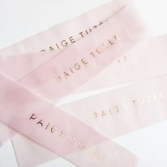 Rose gold on pink vellum / @paigetuzee_designs