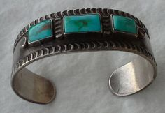 Old pawn native american cuff bracelet sterling by ShamirGems