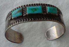 Old pawn native american cuff bracelet sterling by ShamirGems