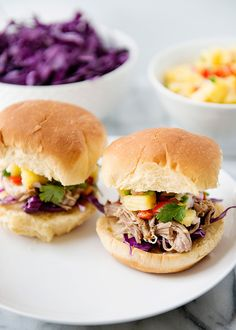 Tropical pork sliders