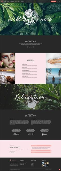 Oaza Spa Resort - Wordpress Business Themes - Ideas of Wordpress Business Themes - Craft a beautiful website for your spa business easily with Oaza WordPress theme! Website Layout, Website Themes, Web Layout, Wordpress Theme, Wordpress Template, Spa Website, Beauty Spa, Beauty Salons, Beauty Makeup