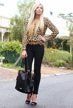 Street Style Look With Leopard Print Details