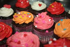 Colorful Valentine's Cupcakes