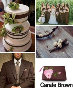 Carafe Brown & Vivacious Pink - work these fabulous (and unique!) colors of Fall into your wedding!