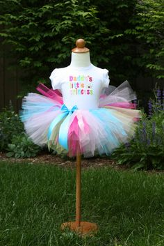 I just used this tutorial to make a tutu--so simple and it turned out so well. Don't forget to look at her updated instructions for cutting the tulle.