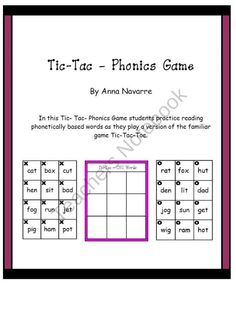 Tic-Tac-Phonics Game product from Mrs-Navarres-Shop on TeachersNotebook.com