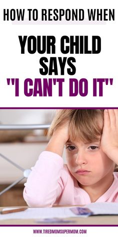 You can change your child's outlook on their difficult task with a simple response. Encourage your little one to handle things that seem impossible! Parenting Tips and Parenting Advice to help your child handle big emotions. Parenting Done Right, Parenting Teenagers, Raising Teenagers, Parenting Humor, Parenting Advice, Emotional Child, Kids Behavior, Gentle Parenting, Nursery