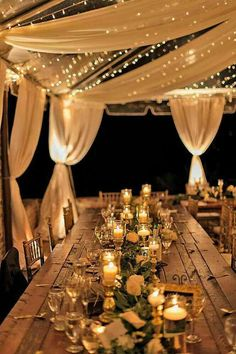 Wedding tent decorat