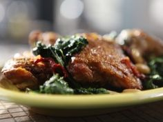 Chicken Thighs with Kale from Michael Symon