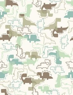 Cool dino wallpaper. I'd love to match all of this and turn it into a nursery theme! I like the modern look not the cartoonish style!