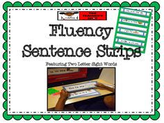 These 30 sentence strips are a great way to support reading fluency with emergent readers.  Use in your literacy centers and pocket charts.  MrsMoorehead.Blogspot.com TheTeachersSpot.com