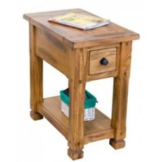 Check Out The Sunny Designs 3133RO CS Sedona Chair Side Table In Rustic Oak  Priced