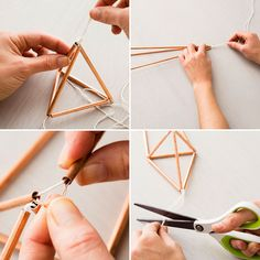 Use string and copper pipes to DIY this planter.