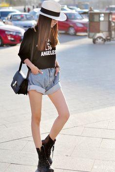 love beauty girl cute fashion style street style asian china Chinese street fashion beijing chinese fashion weibo Taobao