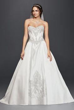 69867e2eb62 ❤ ❤️Really like this one David s bridal Satin Corset Ball Gown Wedding Dress