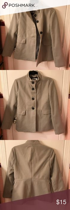 Grey pea coat  nwot Bought this and it's just too tight on the shoulders for me.  It's really cute perfect condition.  Pockets on the side.  Old navy. Old Navy Jackets & Coats Pea Coats