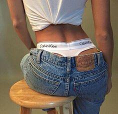 calvin klein underwear and denim Ck Jeans, Sexy Jeans, Mode Jeans, Calvin Klein Tanga, Calvin Klein Femmes, Calvin Klein Underwear, Calvin Klein Women, Ropa Interior Calvin, Jean Sexy