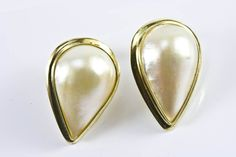 Tear Drop Mabe Pearl Earrings
