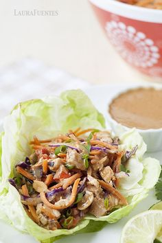 Slow Cooker Thai Chicken Lettuce Cups.