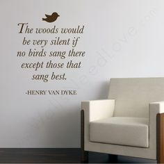 Nature Wall Quote and a chair