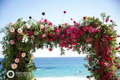 Ceremony Flower Arch // Flowers: Natural Pina