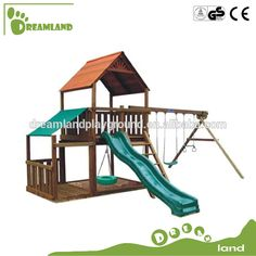 outdoor houten schommel speeltuin set spelen achtertuin houten kinderen schommel glijbaan-afbeelding-speeltuin-product-ID:1853558988-dutch.alibaba.com