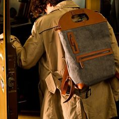 Today is a #backpack...tomorrow, folded, a messenger bag...the two faces of our Backpack Original. Everyday lifestyle uses.