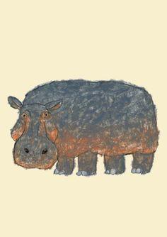 Hippo by Japanese illustrator - Yusuke Yonezu