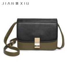 f37b9f351b47d Aliexpress.com : Buy JIANXIU Women Fashion Flap Patchwork PU Leather  Shoulder Crossbody Bag Girls Bolsas Feminina Straw Handbag Purse Torebki  Damskie from ...