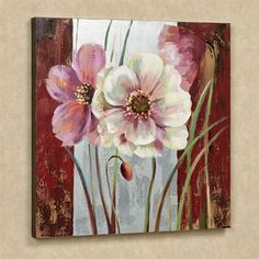 The Blooming Beauties Floral Canvas Wall Art will adorn your wall with a deeply rich vision of loveliness. Handpainted oil painting on canvas features. Floral Wall Art, Arte Floral, Framed Wall Art, Canvas Wall Art, Diy Canvas, Inspirational Wall Art, Oil Painting On Canvas, Painting Doors, Interior Painting
